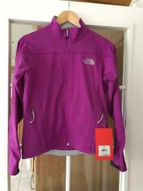 North Face ladies Soft shell jacket coat NEW - pink small - genuine 💕🎄
