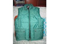 Top Man green gillet (body warmer) very worm. Size 91-96 cm, s-m.