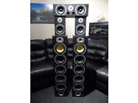 BENG 1240W HOME CINEMA HIFI SPEAKERS 5 CHANNEL
