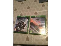 XBox One Games - Forza Horizon 3 and Destiny 2