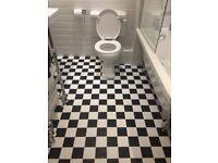 4sqm black & white floor tiles