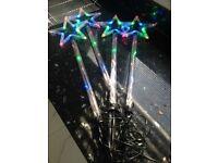 Christmas Multicolour pack of 4 Stars