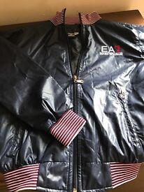 EA7 dark blue jacket size 140