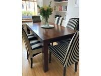 Dining table & chairs (sold pending collection)