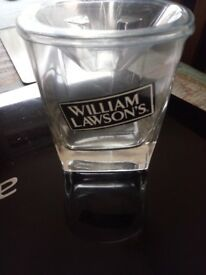 WILLIAM LAWSON WHISKY GLASSES 3 OF.