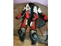 Wolf motorbike leather suit all in one size 42 jacket trousers