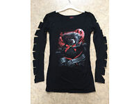 Ladies gothic / horror top. New in packet. Size M (approx 10/12) Ted the Impaler.