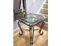 Wrought Iron Glass Top Table