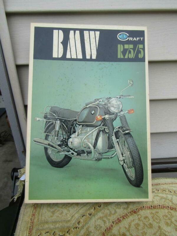 BMW R75/5 Minicraft Model #204 : 500 1/10 Scale Open Box But Complete