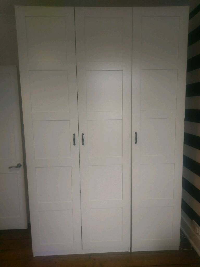 ikea pax triple wardrobe in hertford hertfordshire. Black Bedroom Furniture Sets. Home Design Ideas