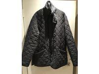 Men's blue Barbour coat size Large