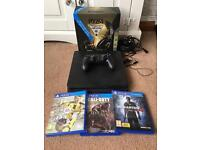 Sony PlayStation ps4 with headset and 3 games