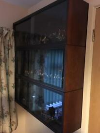 3 small display cabinets