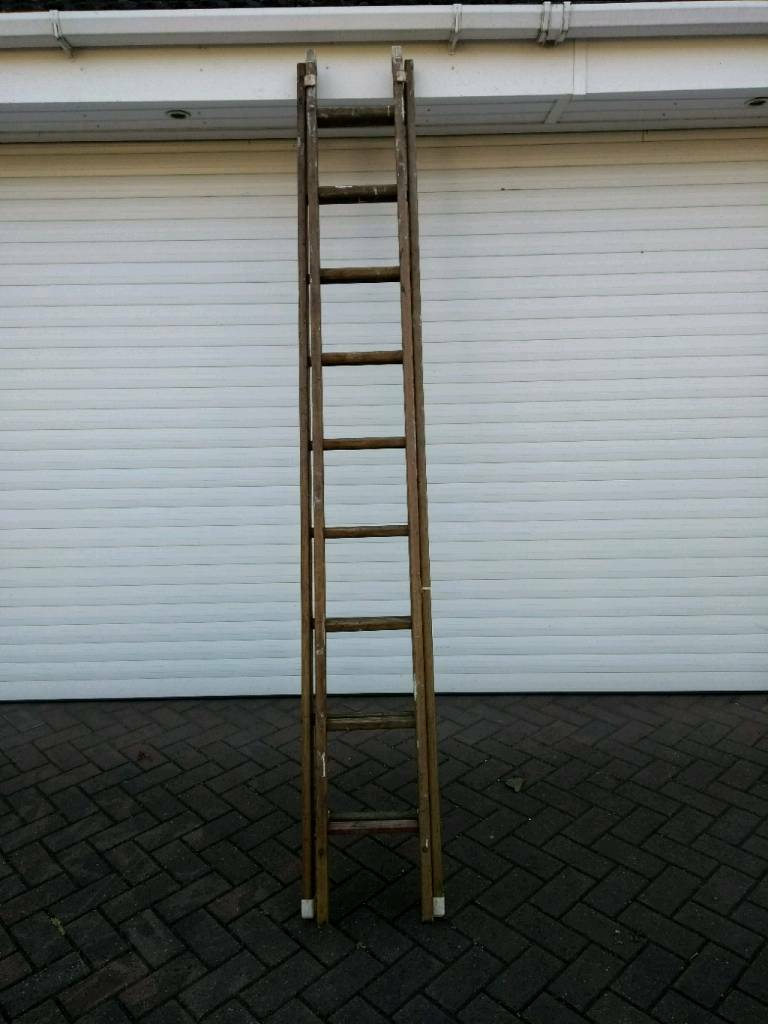 Vintage Wooden Extension Ladder