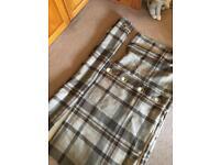 Next lined eyelet curtains - natural check
