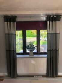 Curtains and 2 roller blinds