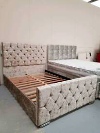 Limited stock Brand new pearl button back bed frames can arrange delivery 07808222995