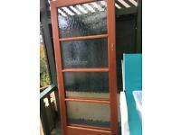 Sliding doors x 2 glazed 6'6 x 2'9""
