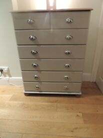 Shabby Chic Dove Grey Chest of Drawers