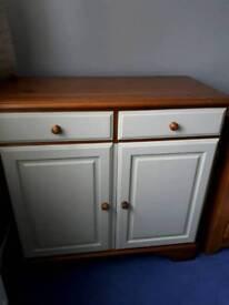 Pine cupboard refurbished painted