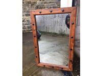 Myakka Indian hardwood mirror, 90 x 60cm