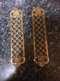 Brass door finger plates £15