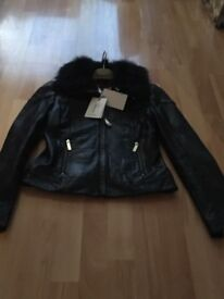 Ted Baker cleva leather jacket size 1