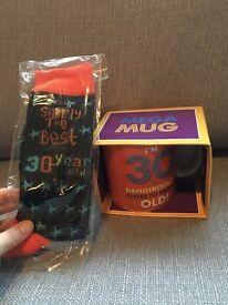 Happy 30th Birthday Mug and Socks
