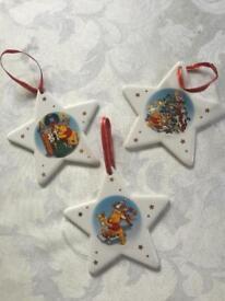 Winnie The Pooh - Set Of 3 Christmas Hanging Stars