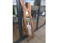 Mirror hard wood plank floor/wall
