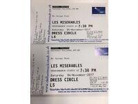 Les Miserables Tickets 4th Nov