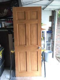 3x Wickes 6 Panel, internal Clear Pine Doors. (2 STD, 1 bi-fold)