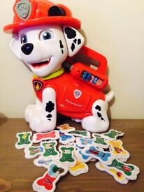 Paw Patrol Marshall Treat Time Vtech Learning Maths Toys Teaches Phonics Letters