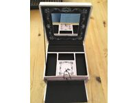 Satin finish Jewellery Box, with drawers etc as shown in photos. £4. Torquay or can post.