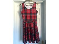 Stretchy Red and Black Tartan Dress