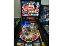 WWF Royal Rumble Pinball Machine - Fully Refurbished/serviced,LED's fitted in General Illumination