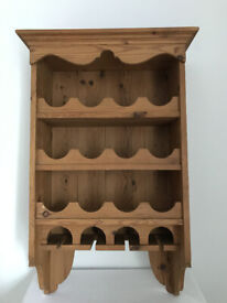 Wooden Wine Rack – Rustic Sold Pine
