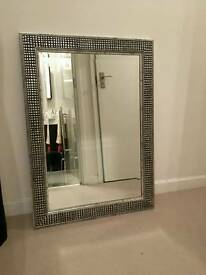 Gallery silver mirror 90cm x 65cm