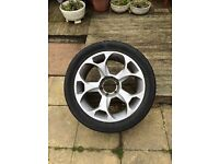 4x 20 inch alloys with tyres