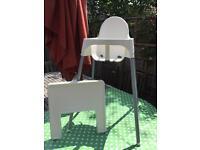 High chair Ikea plastic/white