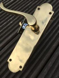 Internal door handles, 3 off no strike plates