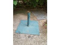 metal parasol base