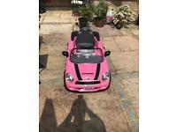 Pink mini battery car