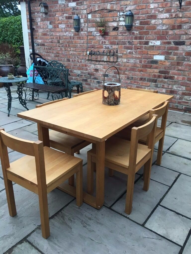 Habitat Oak dining table and 6 chairs in Penwortham  : 86 from www.gumtree.com size 768 x 1024 jpeg 135kB