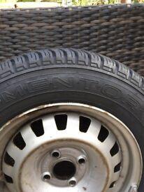 New tyre 175/70 R14 84 T on 4/4 steel wheel.