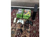 Xbox 360 250gb + 22 games + 2 controllers for sale