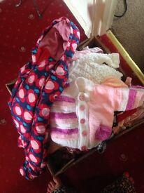 Big box baby girls clothes 0-6 months