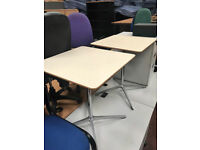Square Bistro Tables with Chrome Legs