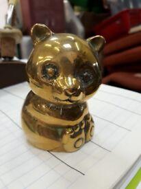 Brass Cat ornament