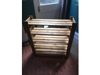 5 tier wood shoe rack 89x83.6x27cm